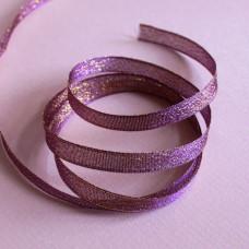Блестящая лента фиолетового цвета, ширина 10 мм, длина 90 см