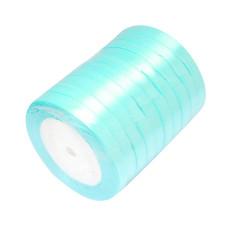 Атласная ленточка голубого цвета, ширина 10 мм, длина 90 см
