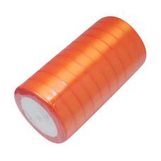 Атласная ленточка оранжевого цвета, ширина 16 мм, длина 90 см