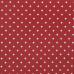 Декоративная ткань Белый горох на красном, 50х55 см, 50% хлопок, плотность 160 г/м2