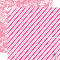 Двусторонняя бумага Airmail Stripe 30х30 см от Echo Park