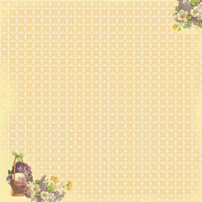 Двусторонняя бумага Корзина с цветами - 30,5х30,5 см от ScrapBerry's