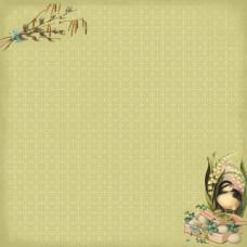 Двусторонняя бумага Весенний Праздник. Верба - 30,5х30,5 см от ScrapBerry's