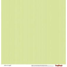 Двусторонняя бумага Симпл Горошек и полоски зеленые 30,5х30,5 см от ScrapBerry's