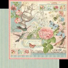 Двусторонняя бумага Botanical Tea от Graphic 45