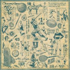 Двусторонняя скрапбумага Cheer On 30x30 от Graphic 45
