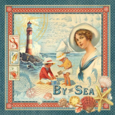 Двусторонняя скрапбумага By the Sea 30x30 от Graphic 45