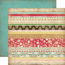 Двусторонняя бумага Border Strips 30х30 см от Carta Bella