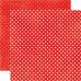Двусторонняя бумага Ruby Red Small Dots 30х30 см от Echo Park