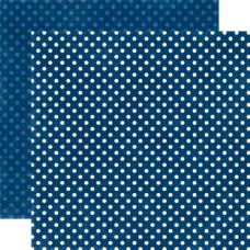 Двусторонняя бумага Navy Small Dots 30х30 см от Echo Park