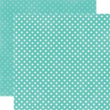 Двусторонняя бумага Teal Small Dots 30х30 см от Echo Park