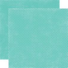 Двусторонняя бумага Teal Tiny Dots 30х30 см от Echo Park