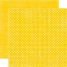 Двусторонняя бумага Lemon Drops Tiny Dots 30х30 см от Echo Park