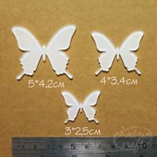 Акриловые Бабочки 3шт 5x4,2см, 4x3,4см и 3x2,5см от Katrin Craft