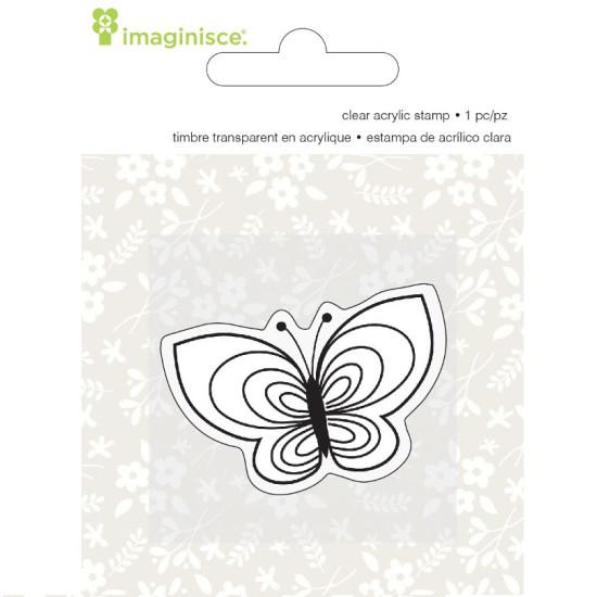 Акриловый штамп  Welcome Spring - Butterfly от компании Imaginisce