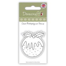 Акриловый штамп Christmas pudding от компании Dovecraft