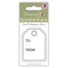 Акриловый штамп Gift Tag от компании Dovecraft