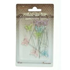 Булавочки с бабочками в пастельных тонах, 10 шт от Scrapberry's.