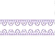 """Декоративный бумажный скотч Scrapberry's """" Сиреневое кружево, ширина 15 мм, длина 8 м"""