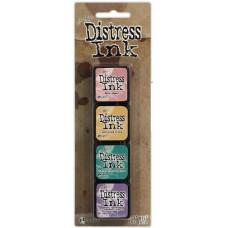Набор подушечек для штампинга  Distress Mini Ink Kit - Kit 4, 4 шт от Ranger