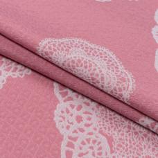 Гобелен кензо, Хлопок 50%, 267г/м, розовый, 50x50 см