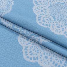 Гобелен кензо, Хлопок 50%, 267г/м, голубой, 50x50 см
