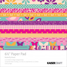 Набор бумаги Butterfly Kisses, 16х16 см, 40 листов от Kaisercraft