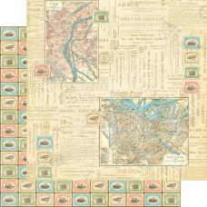 Двусторонняя скрапбумага Travel Odyssey 30х30 см от Graphic 45