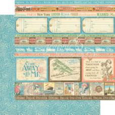 Двусторонняя скрапбумага Look Out World 30х30 см от Graphic 45