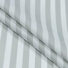 Бязь набивная, Полоса, серая, плотность 120, 50x55, хлопок 100%