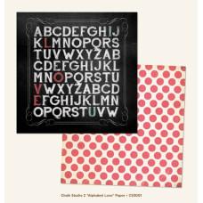 Двусторонняя бумага  Alphabet Love 30х30 см от My Mind's Eye