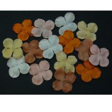 Набор 10 гортензий персиково-оранжевых тонов, 50 мм