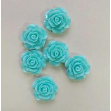 Кабошон Роза, светло-голубой, диаметр 20 мм, толщина 9 мм
