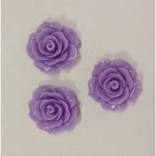 Кабошон Роза, ярко-фиолетовый, диаметр 20 мм, толщина 9 мм