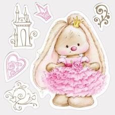 Набор силиконовых штампов Маленькая принцесса 10,5х10,5 см от Scrapberry's