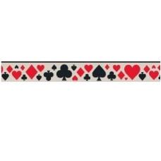 Бумажный скотч с принтом  Старый цирк. Карты 15мм*8м от Scrapberry's