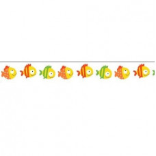 Бумажный скотч с принтом Basik&Co. Рыбки-1 15мм*8м от Scrapberry's