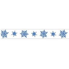 Бумажный скотч с принтом Зима. Снежинки 15мм*8м от Scrapberry's