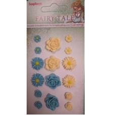 Набор объемных цветочков Сказка про фей 1, 16 шт. от Scrapberry's