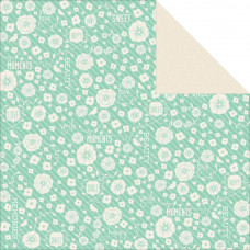 Двусторонняя бумага Peony - Spring Bloom 30х30 см от Kaisercraft