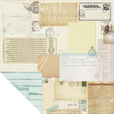 Двусторонняя бумага Peppermint 30х30 см от Kaisercraft