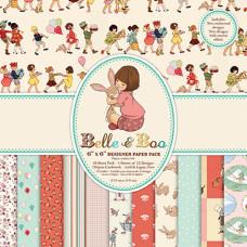 Набор бумаги  Belle and Boo,15x15 см, 12 листов от Dovecraft.