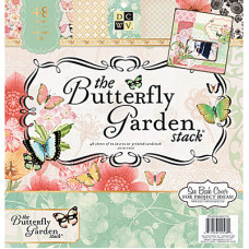 Набор бумаги Butterfly Garden, 30х30 см,24 листа от DCWV