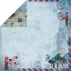 Двусторонняя бумага Romantic Travel, 30х30 см от Fabscraps