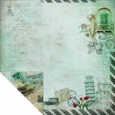 Двусторонняя бумага Travel Romance 2, 30х30 см от Fabscraps
