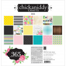 "Набор бумаги ""365"", размер 30*30 см от Chickaniddy Crafts"