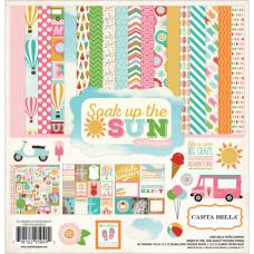 """Набор бумаги """"Soak Up The Sun"""", 30х30 см, 12 листов + наклейки от Carta Bella"""