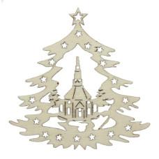 Вырубки из дерева Рожденственская ель 10x8x0.25см (2 шт.) от Scrapberry's
