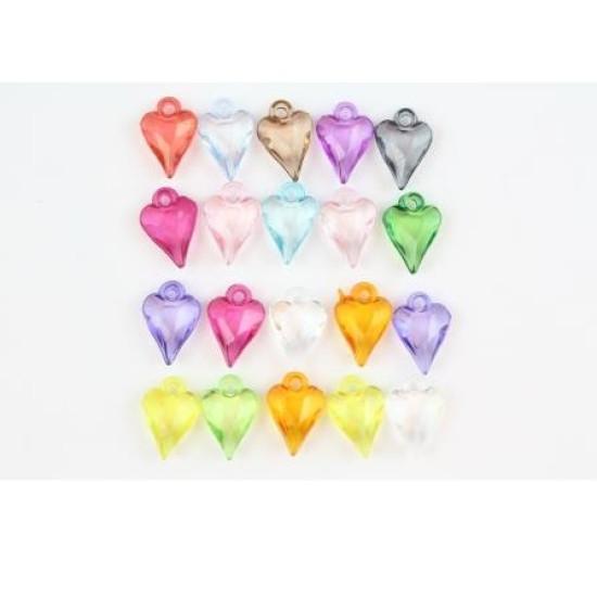Акриловые украшения - подвески Граненые сердечки, 20 шт от Scrapberry's