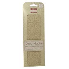 Бумага для декупажа Deco Mache - Ornate Snowflake 3 листа 26х37,5 см от First Edition